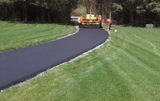 driveway being paved
