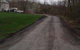 unpaved driveway