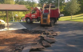 Diehl Paving truck with broken concrete