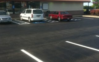 Commercial Parking Lot Line Striping