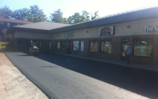 Paving in front of businesses