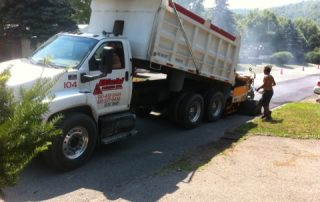 White Diehl Paving truck