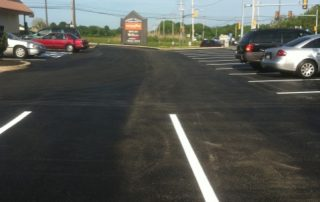 Paved parking lot with fresh lines