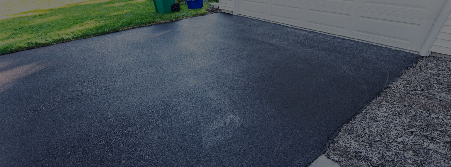 Newly Paved Residential Driveway