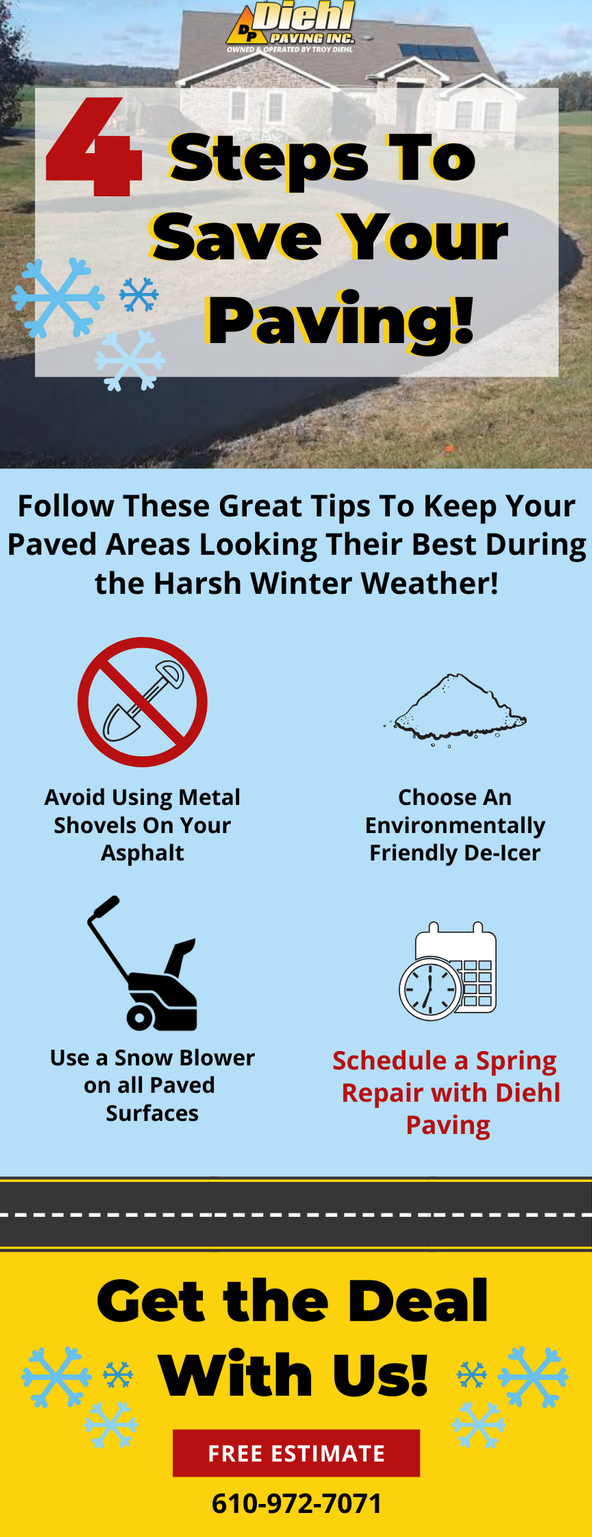 4 Steps To Save Your Paving! ❄️ 1